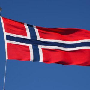 Norges flagg på flaggstang